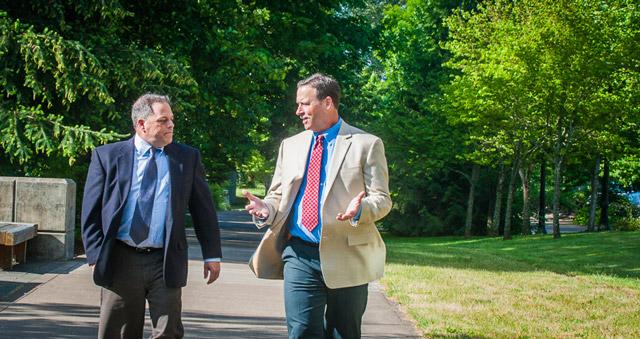 John Turman and Eric Cheney in Corvallis Riverfront Park